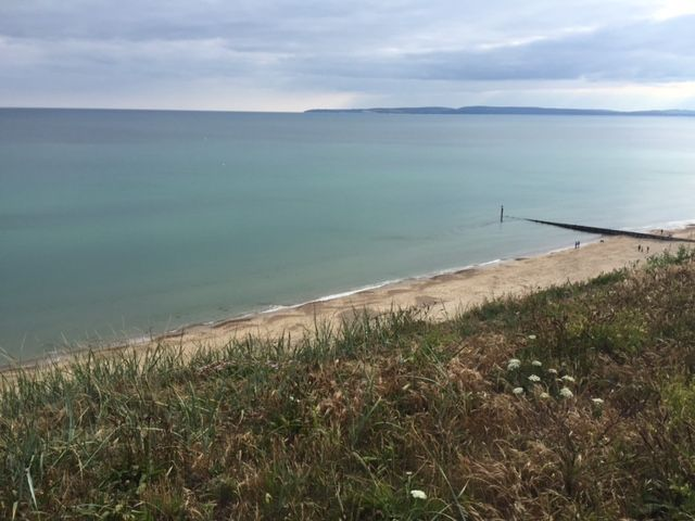 Bournemouth Beach from Southbourne cliff top. #britishsummertime #bournemouth