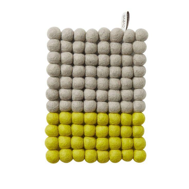 top3 by design - aveva - trivet rectangle grey-lemon