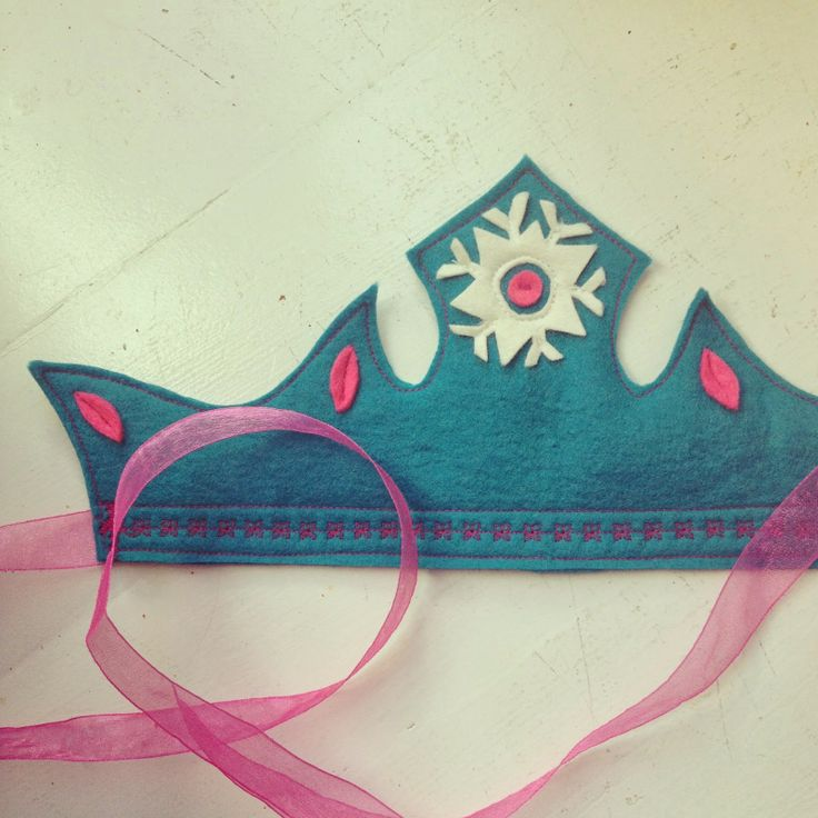 Frozen Birthday Party, DIY Felt Elsa Crown: At Second Street