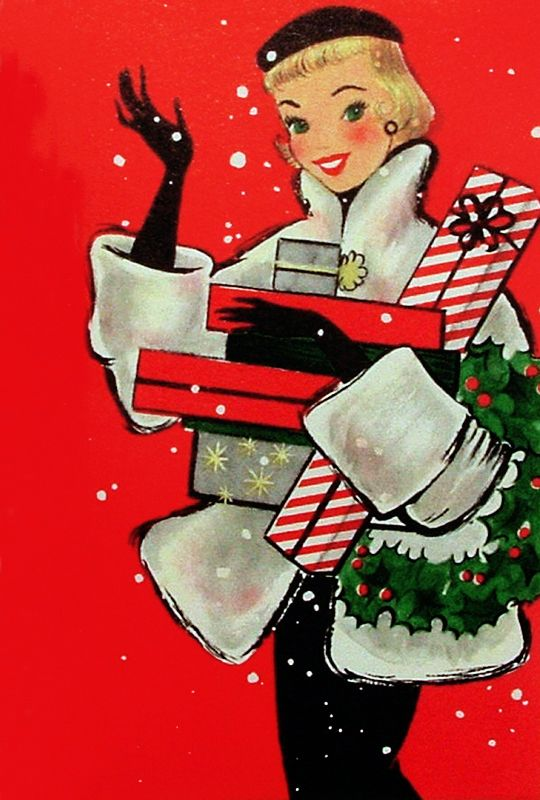 Pin Up! The Movie — vintagegal:   1950s Hallmark Christmas card