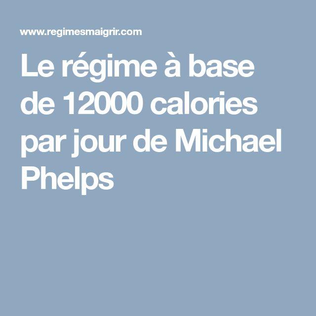Le régime à base de 12000 calories par jour de Michael Phelps