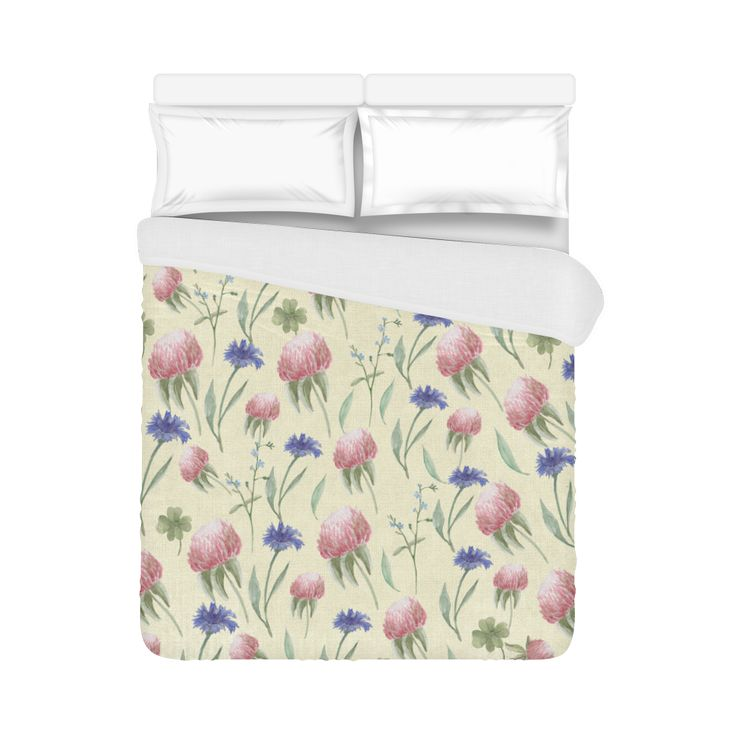 "Field of wild flowers Duvet Cover 86""x70"" ( All-over-print)"