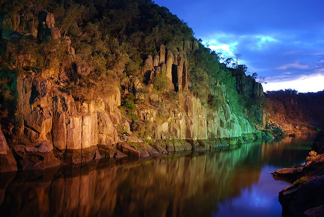 Cataract Gorge at Twilight, Launceston