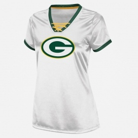 NFL Womens Green Bay Packers Lace-Up Top