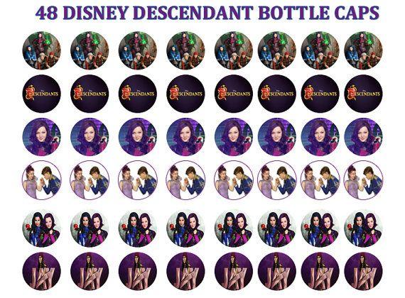 1 Quot Disney Descendant Bottle Cap Image Sheet For Party