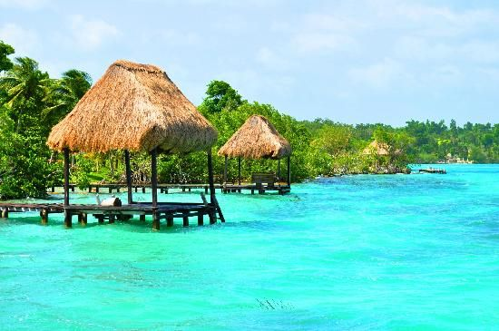 Laguna de Bacalar, Quintana Roo, Mexico. Just one of the amazing places we're going to this month! Hard to believe this is a lake!