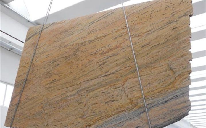 Kalahari Gold Preisgruppe 4 Granit - Naturstein ca. 300 cm Länge materialabhängig poliert, satiniert Küchenarbeitsplatten, Waschtische, Duschtassen, Treppen, Podeste, Fensterbänke Indien Fantasie Gold