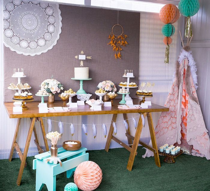 Décoration anniversaire Indien - http://www.instemporel.com/blog/index/billet/10802_deco-anniversaire-indien - #Kids #birthday #indian