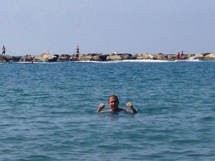 Daily swims are the best way to start or finish your day. Beautiful coast and weather in #Cyprus so get swimming!