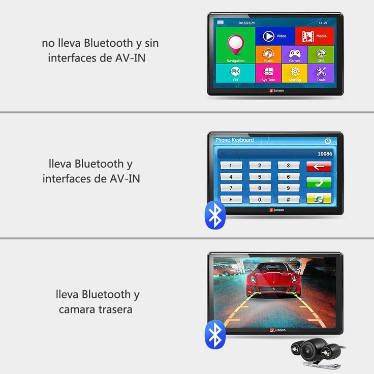 Junsun 7 inch HD Car GPS Navigation with FM Bluetooth AVIN Multi-languages Europe Sat nav Truck car gps Navigator with Free Maps