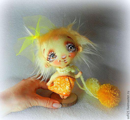Коллекционные куклы ручной работы. Ярмарка Мастеров - ручная работа. Купить Решено! Буду цыпленком!). Handmade. Комбинированный, текстильная кукла