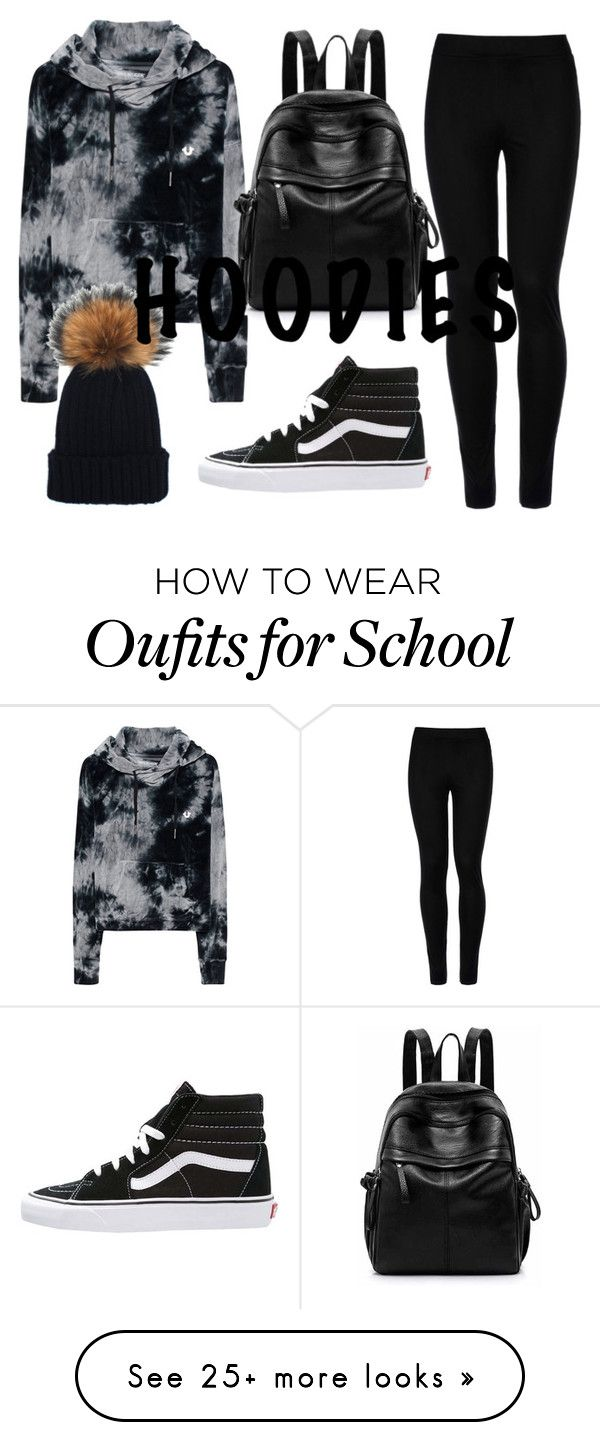 """""""Old school"""" by tiwik on Polyvore featuring True Religion, Wolford, Vans, Winter, vans and Hoodies"""