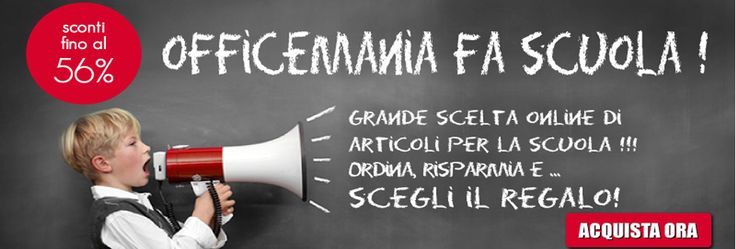 Cancelleria per la scuola  http://www.officemania.it/promozione-scuola.html