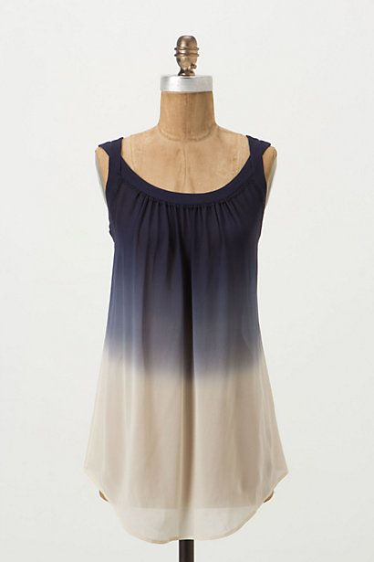 Matana Tunic: Ombre Tunics, Anthropology Matana, Matana Tunics, Fashion Style, Dips Dyes, Silk Tops Anthropology, Tunics Tops, Anthropologie Com, Tops Anthropologie I