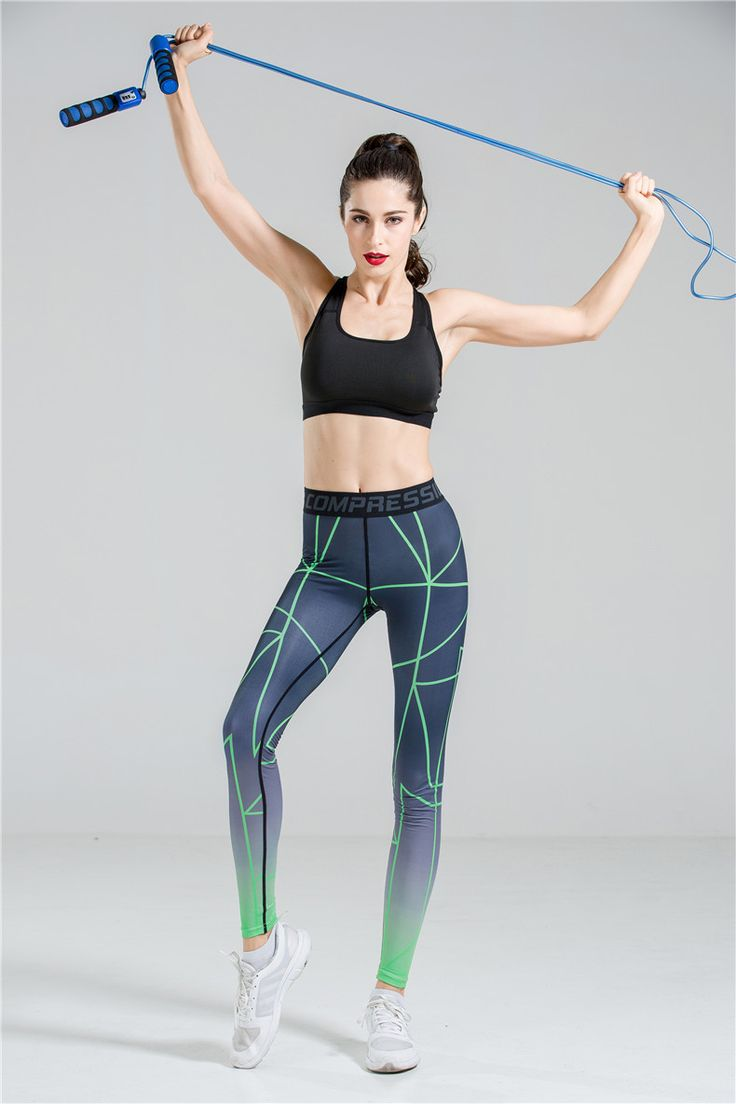 2016 New Sexy Gym Women's Sports pants Fitness Workout Trousers Star Printing Running Sport Pants Elasticity Jeggings #CLICK! #clothing, #shoes, #jewelry, #women, #men, #hats, #watches