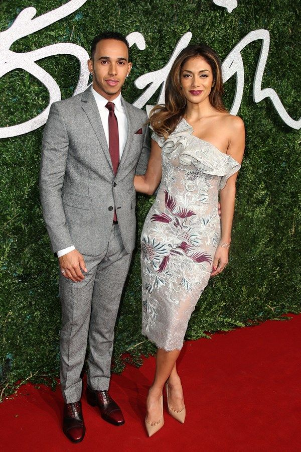 Austin Reed | Lewis Hamilton and Nicole Scherzinger at the British Fashion Awards 2014