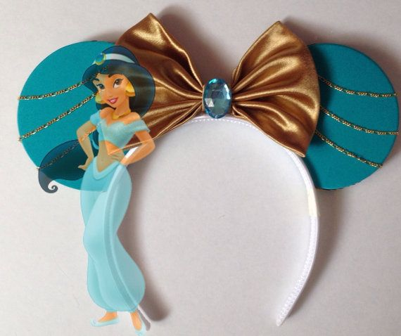 Aladdin Princess Jasmine inspired ears headband by seamcometrue