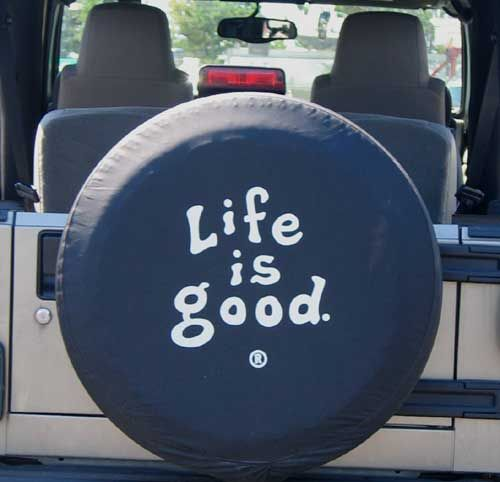 """All Things Jeep - Life is good Tire Cover, """"Coin"""""""