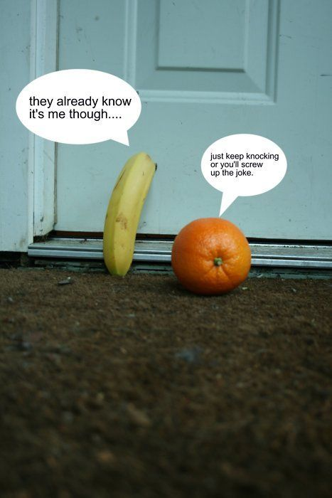 orange you glad?: Knockknock, Laughing, Orange You Glad, Funny Pictures, Bananas, Giggl, Humor, Kids, Knock Knock Jokes