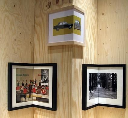 Picture frames folded for wonderfully creative decor idea.