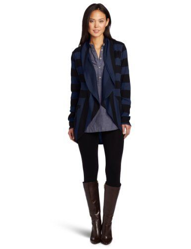 allen allen Women's Rugby Stripe Long Sleeve Circle Cardigan Allen Allen. $78.00. 50% Cotton/50% Modal. Made in USA. This open cardigan can be worn over a tee/tank and worn with jeans for an easy errand running outfit, over work out clothes for a fashionable day look or with boots/heels for the perfect casual movie night or dinner date. Garment dyed for softness. Machine Wash