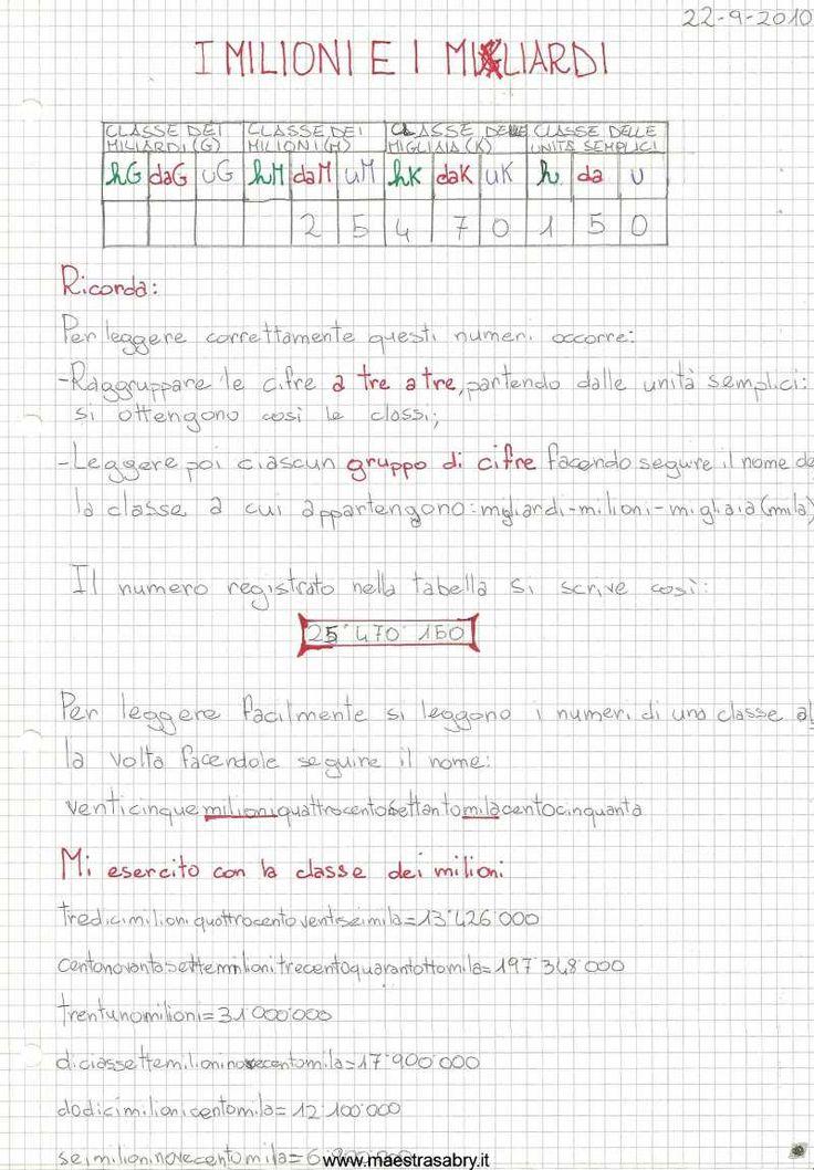 Quaderno di matematica classe quinta