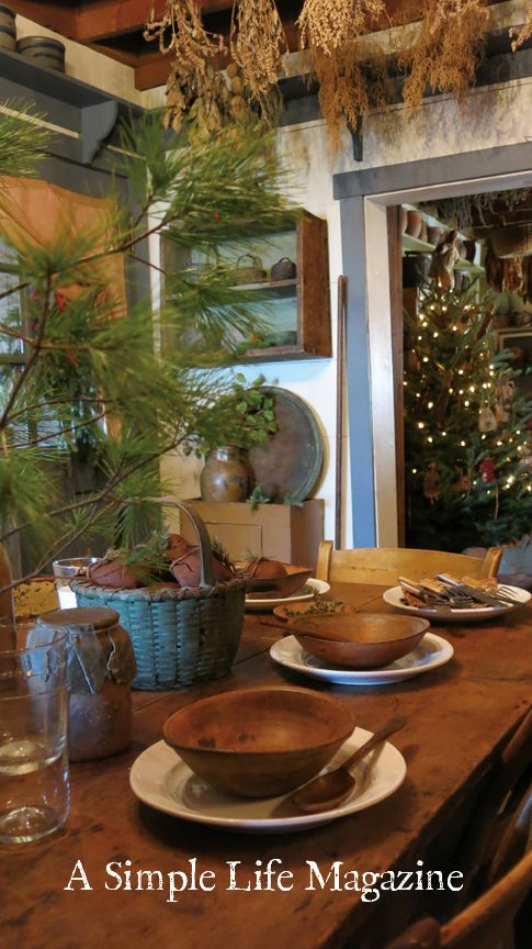 Winter 2016 issue of A Simple Life Magazine - Christmas Table Tops, home of Patsy Martin