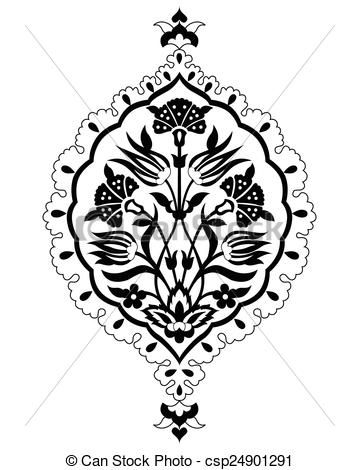 Vector - black artistic ottoman seamless pat - stock illustration, royalty free illustrations, stock clip art icon, stock clipart icons, logo, line art, EPS picture, pictures, graphic, graphics, drawing, drawings, vector image, artwork, EPS vector art