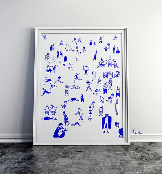 Friday by Gosia Herba. This is a high quality giclée print on 230G archival paper.