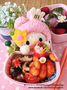 マイメロディのキャラベン Little Chef My Melody Bento 今回キャラベンにはマイメロディはシェフになりました。ミニチュアのお弁当を添えましたよ。 Ψ( ̄∀ ̄)Ψケケケ マイメロディのキャラベンのおかず:しいたけソテー、辛のトマト海老、キュウリ、レタス、桜餅、ラズベリー、ブラックベリー。 キャラクターの部分 マイメロディシェフ(飯、ピンクのお寿司調味料、海苔、薄焼き卵、かまぼこ、はんぺん) ミニチュアのお弁当(飯、あられ、薄焼き卵、蒲鉾、レタス、マグロ) ミニチュアのお弁当 Miniature Bento In today's bento, My Melody is a bento chef :P haha. I even made a minature bento to go with the bento.o(*^▽^*)o~♪  I hope you like this Little Bento Chef My Melody Bento creation.  The ingredients were simpleContinue…