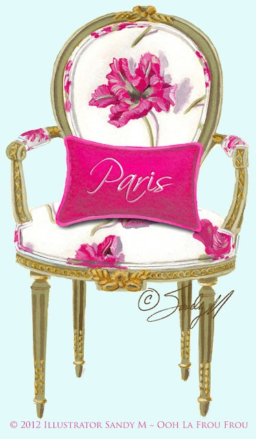 A perfect pink Valentine chair from Ooh la frou frou