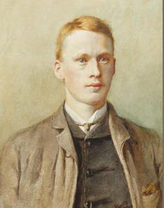 Ellis William Roberts (British, 1860-1930) Portrait of a young man (Joseph Shaw) Signed 'Ellis Roberts', watercolour 24 x 18cm (9 7/16 x 7 1/16in).