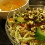 インドレストラン Shama - 料理写真:発芽緑豆のミニサラダ。