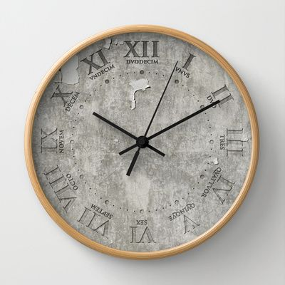 Roman Numerals Wall Clock by Henderson GDI - $30.00
