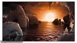 Novo sistema solar com 7 planetas similares à Terra é descoberto  O conjunto é considerado o melhor lugar para se procurar vida alienígena na galáxia.  Descoberto um sistema de 7 planetas semelhantes à Terra. Com Três deles na zona habitável  ou seja provavelmente contém água no estado líquido  da estrela (uma estrela-anã apenas um pouco maior do que Júpiter) a 39 anos-luz de distância daqui. Assim dizem os especialistas já não se trata de uma questão de se vamos encontrar vida. Mas uma…