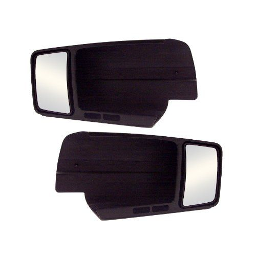CIPA 11800 Ford F-150 Custom Towing Mirror - Pair  Slides over existing mirror with wedge lock security  Custom design ensures a perfect fit, and no annoying vibration  Easy installation with no tools required;Does not obstruct existing mirror  Sleek custom design compliments the existing mirror  Does not fit 2WD XL, STX-style or Lariat