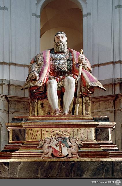The Gustav Vasa sculpture by Carl Milles at the Nordiska museet, Stockholm, Sweden.   ---  Gustav Vasa i Nordiska museets stora hall. Staty av Carl Milles.   ---  Photo: Mats Landin, © Nordiska museet