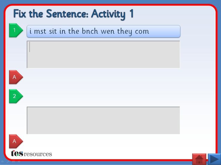 Interactive teaching activity where pupils must correct sentences that contain errors. Sentences get progressively more tricky as the activity is moved through. SMART Board activity also included. Allows for whole class, small group, or individual work. Has been tested to work on SMART iPad app also. Includes supporting worksheets.