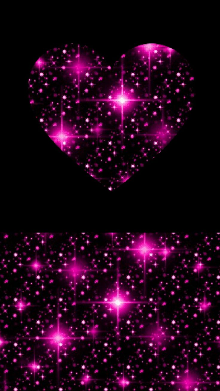 Free Black And Pink Hearts Wallpaper