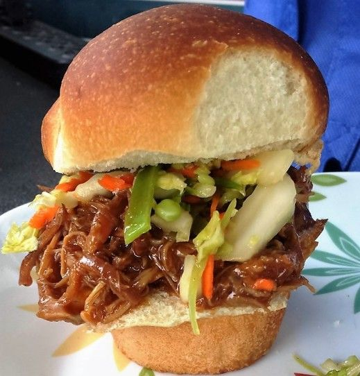 Pressure Cooker Chinese BBQ Char Siu Pulled Pork via @thisoldgalcooks