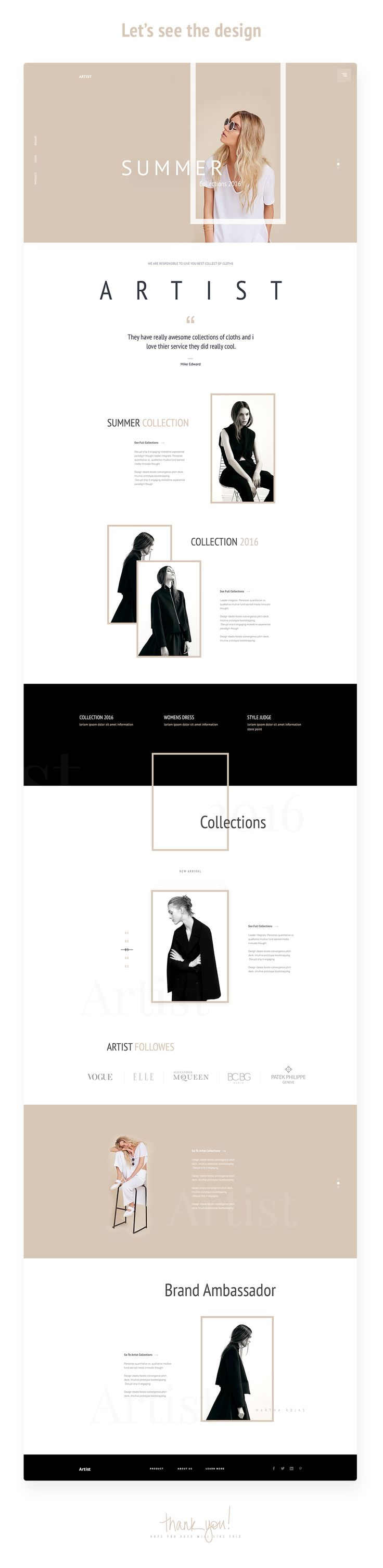 "다음 @Behance 프로젝트 확인: """"Artist"" - E-Commerce Template Design Concept"" https://www.behance.net/gallery/43819149/Artist-E-Commerce-Template-Design-Concept"