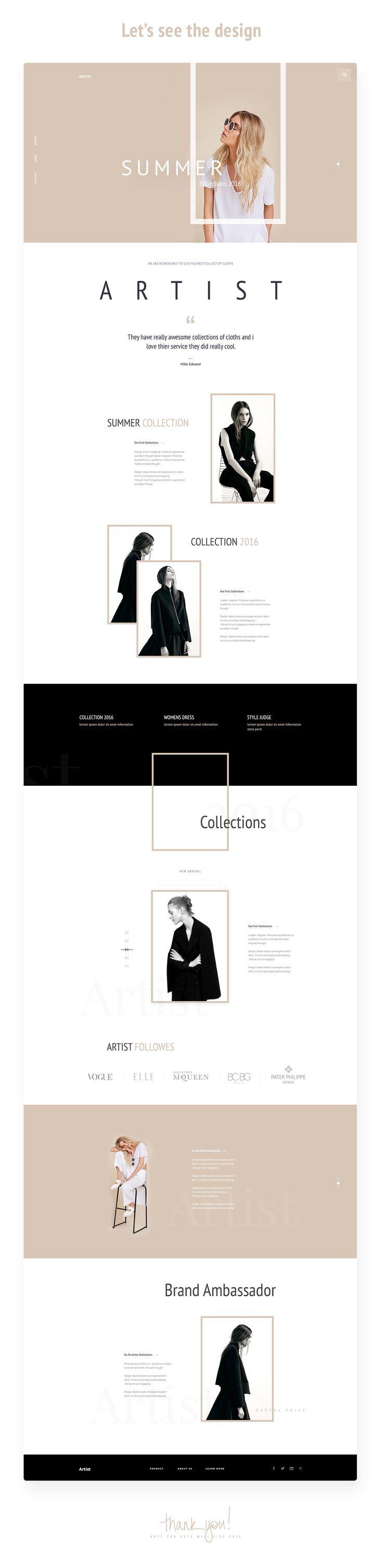 """다음 @Behance 프로젝트 확인: """"""""Artist"""" - E-Commerce Template Design Concept"""" https://www.behance.net/gallery/43819149/Artist-E-Commerce-Template-Design-Concept"""