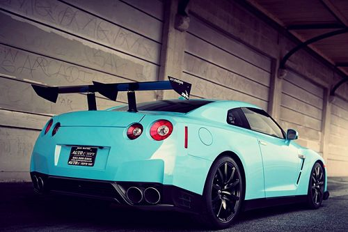 Teal Nissan GTR. #cars