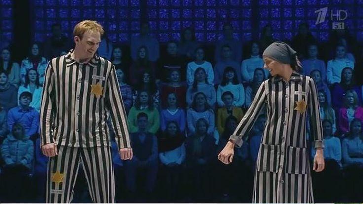 Verstörende Holocaust-Eistanznummer: Russische Eisläuferin tanzt in KZ-Kluft