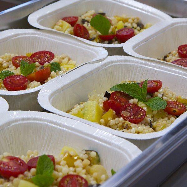 I piatti in preparazione #fregola #iCestini #pendolaresimo #fooddelivery #food
