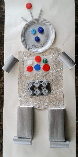 Junk art robot made out of recycled junk!