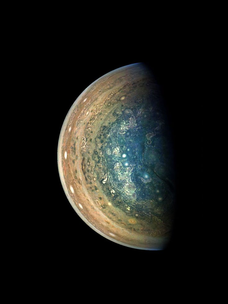 Jupiters Swirling South Pole