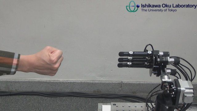 BBC News - Unbeatable Rock-Paper-Scissors robot developed in Japan