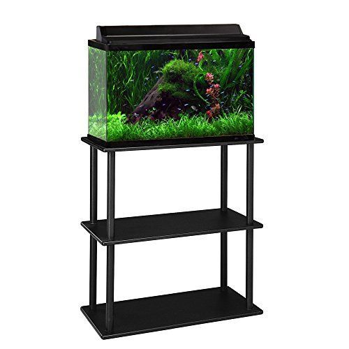 Aquatic Fundamentals 10/20 Gallon Aquarium Stand with Shelf, Black *** Check this awesome product by going to the link at the image.