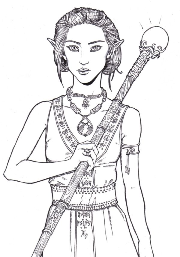 84 best Elves coloring pages images on Pinterest
